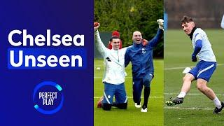 Billy Gilmour dances after DOUBLE nutmeg  Goalkeeping heroics in reactions drill!   Chelsea Unseen