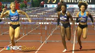 Americans clash in epic 100m hurdle finish in Zagreb | NBC Sports