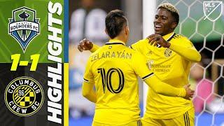 Seattle Sounders 1-1 Columbus Crew SC | Beautiful Assist for Columbus's Goal | MLS HIGHLIGHTS