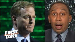 Stephen A.'s thoughts on how Roger Goodell is handling the NFL's return | First Take