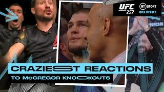 Best Crowd Reactions to Conor McGregor Knockouts! Khabib, Tyson Fury, and his family!