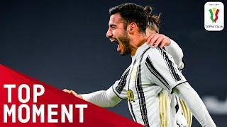Frabotta Scores First Juve Goal with Bullet! | Juventus 4-0 SPAL | Top Moment | Coppa Italia 2020/21