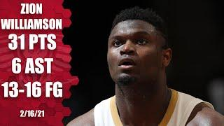 Zion Williamson scores 31 and only misses 3 shots [HIGHLIGHTS]   NBA on ESPN
