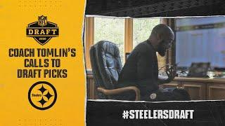 EXCLUSIVE: Coach Tomlin calls Chase Claypool + other draft picks to tell them they're Steelers