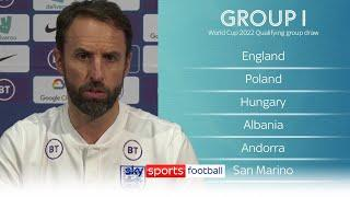 Gareth Southgate's reaction to England's World Cup qualifying group!  | Qatar 2022