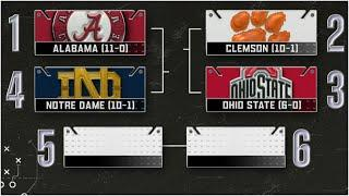 Alabama, Clemson, Ohio State & Notre Dame are selected for the College Football Playoff |CFB on ESPN