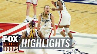 Freshman phenom Paige Bueckers drops 23, lead UConn to Big East title | FOX COLLEGE HOOPS HIGHLIGHTS