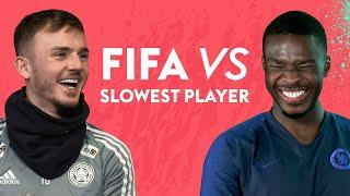 Footballers guess who their SLOWEST teammate is on FIFA 20! | FIFA vs Maddison, Tomori & more!