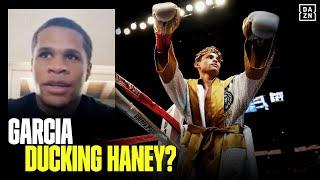 Devin Haney Reacts To Ryan Garcia Saying He Needs To Fight Teofimo Lopez First