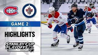 Second Round, Gm 2: Canadiens @ Jets 6/4/21 | NHL Highlights