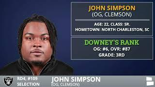 Raiders Trade Up To Pick OG John Simpson From Clemson With Pick #109 In 4th Round Of 2020 NFL Draft