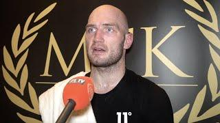STEVEN WARD REACTS TO FIRST WIN UP AT CRUISERWEIGHT / SAYS HES 'READY' FOR THE BIG NAMES IN DIVISION