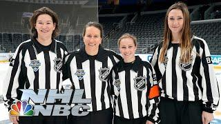 Former hockey players make history as first female NHL refs | Hockey Culture | NBC Sports
