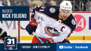 Ask 31 LIVE w/ Columbus Blue Jackets Captain Nick Foligno
