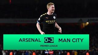 Arsenal 0-3 Manchester City | De Bruyne Masterclass at The Emirates