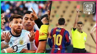 Lionel Messi's 3 red cards | Oh My Goal
