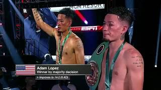 Adam Lopez: Coria was my toughest fighter ever, I want a Top 10 opponent next