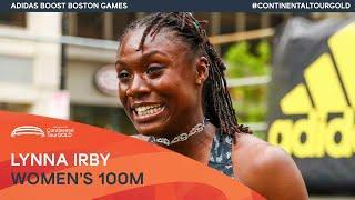 Lynna Irby wins 150m in Boston | Continental Tour Gold