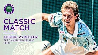 Stefan Edberg vs Boris Becker | Wimbledon 1990 Final | Full Match