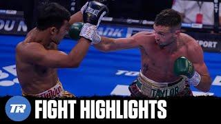 Josh Taylor highlight reel KO of Apinun Khongsong, Wants Jose Ramirez Next | FIGHT HIGHLIGHTS