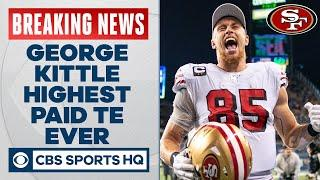 49ers George Kittle becomes the highest-paid tight end in NFL history | CBS Sports HQ