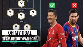 Oh My Goal's Team of the Year 2020 vs Oh My Goal fans' Team of the Year 2020