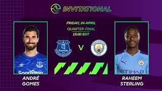ANDRÉ GOMES (EVERTON) V RAHEEM STERLING (MAN CITY) | ePREMIERLEAGUE INVITIATIONAL | FIFA 20