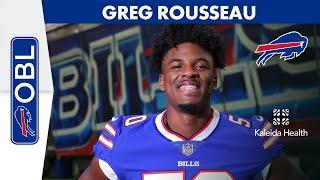 """Greg Rousseau: """"I'm So Excited to be a Part of Bills Mafia""""   Buffalo Bills   One Bills Live"""