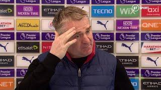 """""""It's a pathetic law, a pathetic decision."""" Dean Smith vents anger at Man City's opening goal"""