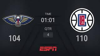 Pelicans @ Clippers | NBA on ESPN Live Scoreboard