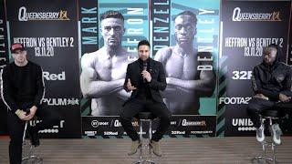 MARK HEFFRON v DENZEL BENTLEY - (FULL & OFFICIAL) PRESS CONFERENCE AHEAD OF REMATCH / BRITISH TITLE