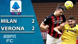 Zlatan Ibrahimovic makes up for penalty miss by rescuing draw for Milan | ESPN FC Serie A Highlights