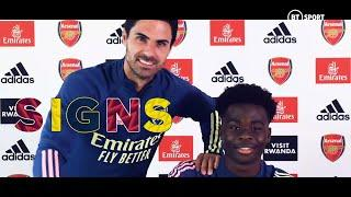 """""""Thank God for this very proud moment."""" Bukayo Saka on new Arsenal deal"""