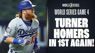 Dodgers' Justin Turner hits ANOTHER 1st inning homer to put LA up in World Series Game 4!