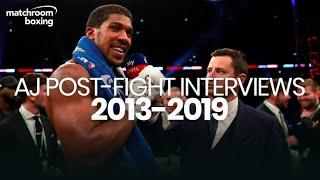 Anthony Joshua post-fight interview compilation (Pro debut to Ruiz rematch)
