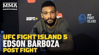 UFC Fight Island 5: Edson Barboza Pleads For Quick Turnaround After Big Win - MMA Fighting