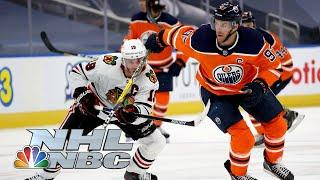 NHL Stanley Cup Qualifying Round: Blackhawks vs. Oilers | Game 1 EXTENDED HIGHLIGHTS | NBC Sports