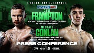 Bob Arum, Carl Frampton and Michael Conlan Press Conference