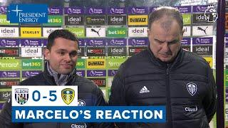 """""""All of our goals gave me happiness""""   Marcelo Bielsa reaction   West Brom 0-5 Leeds United"""