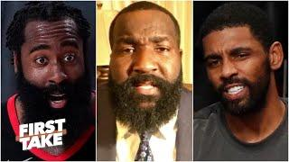 The Nets should trade Kyrie Irving to the Rockets for Harden TODAY! - Kendrick Perkins   First Take
