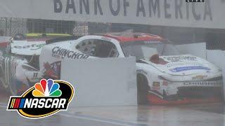 Multi-car wreck on rainy Charlotte Roval brings out caution on Xfinity restart | Motorsports on NBC