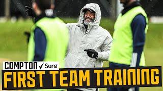 Nuno leads final session as Raul returns to full training | Wolves first team training