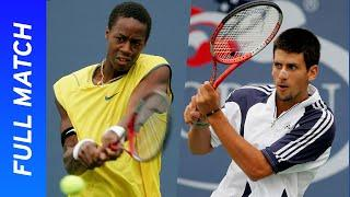 18-year old Gael Monfils vs 18-year-old Novak Djokovic | US Open 2005 Round 1