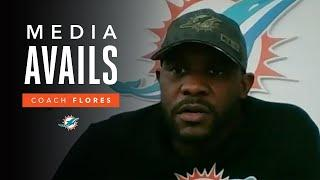 Coach Flores: 'We've earned the right to play meaningful games.' | Miami Dolphins Media Avails