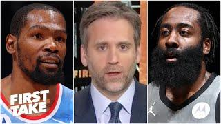 Kevin Durant or James Harden: Which Nets star is under the most pressure? | First Take