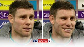 James Milner reacts to a door being named after him at Liverpool's new training ground