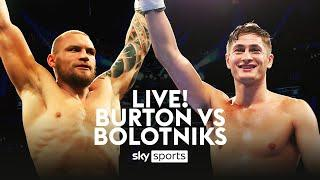 LIVE BOXING! Hosea Burton vs Ricards Bolotniks + Undercard | Golden Contract semi-final