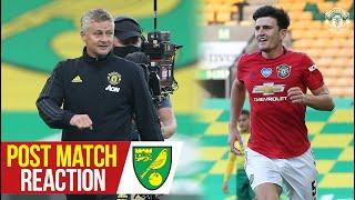 Maguire and Solskjaer happy to progress in FA Cup   Norwich City 1-2 Manchester United (AET)