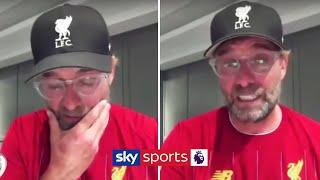 Jurgen Klopp's emotional reaction to Liverpool winning the Premier League