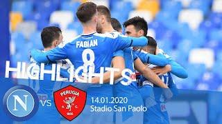 Highlights Coppa Italia - Napoli vs Perugia 2-0